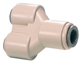 John Guest 1/4 Two-Way Divider Y Fitting